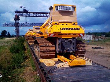 Перевозки спецтехники по железной дороге фото 4